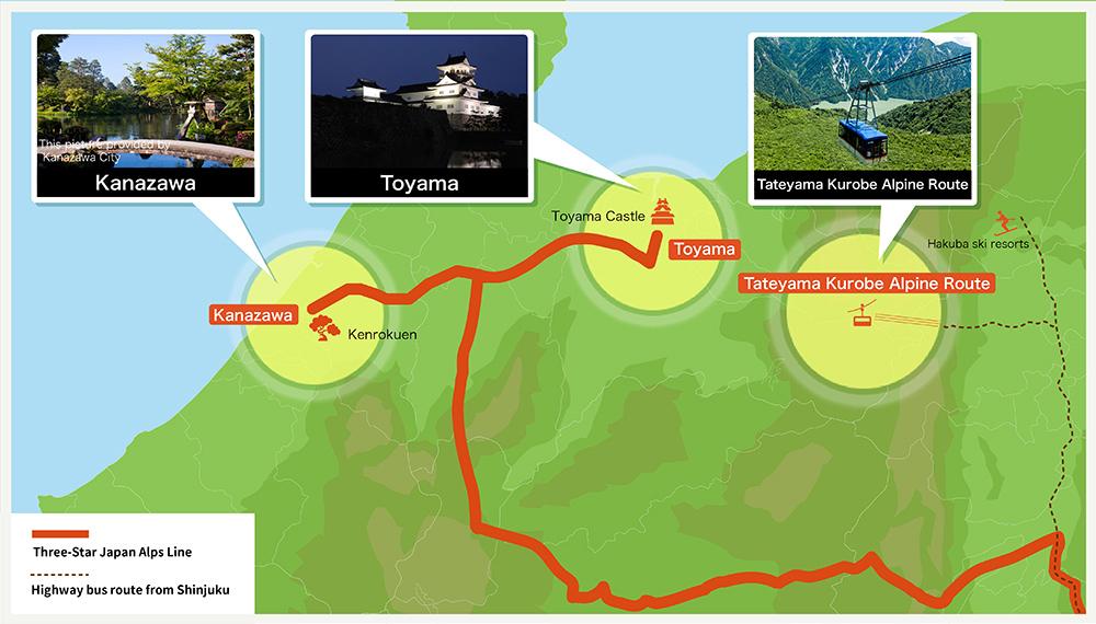 Kanazawa Toyama Introduction area Central Honshu Information
